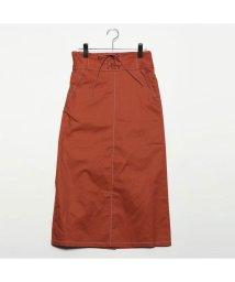 STYLEBLOCK/スタイルブロック STYLEBLOCK 綿ツイルレースアップステッチタイトスカート (オレンジ)/501846516
