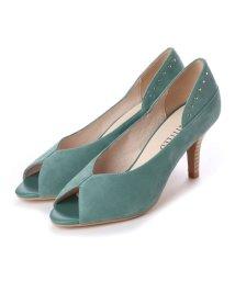 UNTITLED shoes/アンタイトル シューズ UNTITLED shoes オープントゥパンプス (ライトグリーンスエード)/501863576