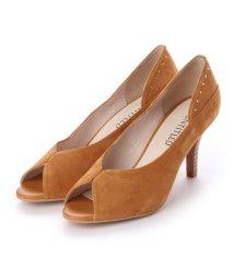 UNTITLED shoes/アンタイトル シューズ UNTITLED shoes オープントゥパンプス (マスタードスエード)/501863577