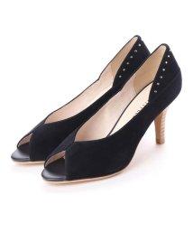 UNTITLED shoes/アンタイトル シューズ UNTITLED shoes オープントゥパンプス (ネイビースエード)/501863578