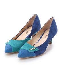 UNTITLED shoes/アンタイトル シューズ UNTITLED shoes コンビカラーパンプス (ブルースエードコンビ)/501863585