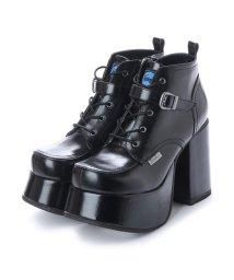 YOSUKE/ヨースケ YOSUKE 厚底レースアップブーツ (ブラック)/501876726