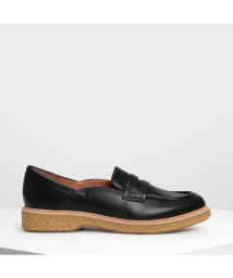 CHARLES & KEITH/カバードエッジ ペニーローファー / Curved Edge Penny Loafers (Black)/501883095