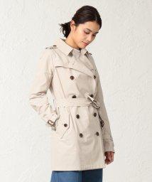 SANYO COAT/<Spring Coat>コットンソロタッサーショートトレンチコート/501886190