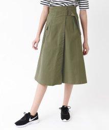 titivate/ポケット付きミリタリーラップスカート/501886521