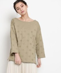 DRESSTERIOR/【洗える】リンクスニットトゥインクル ボートネックTシャツ/501889635