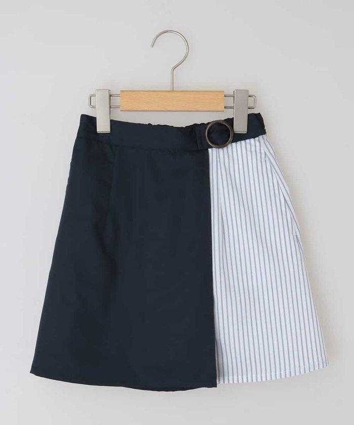 [100−130]ミックスストライプスカート[WEB限定サイズ]