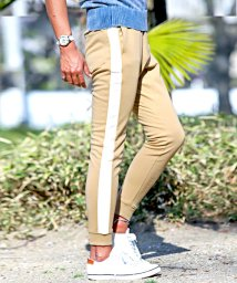 LUXSTYLE/ジョガーパンツ メンズ スウェットパンツ ライン サイドライン スリム イージー 裾リブ BITTER ビター系【サイドラインポンチジョガーパンツ】ジョガー ス/501623696