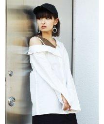 EMODA/ワンサイドネックドッキングシャツ/501881753