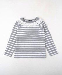 BeBe/天竺ボーダレースTシャツ/501888230