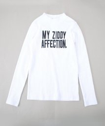 ZIDDY/【ニコプチ掲載】【カタログ掲載】ロゴ刺繍リブカットソーTシャツ/501888283