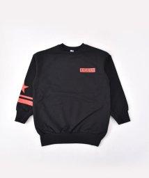 RAD CUSTOM/ベアインレイ星ロゴプリントビッグTシャツ/501888320