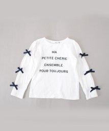Noeil aime BeBe/天竺袖リボンTシャツ/501888349