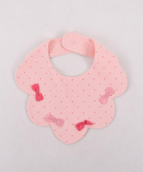 e-baby(イーベビー)/天竺リボンドットプリントスカラップスタイ/183411020