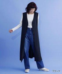merlot/フロントボタンVネックジャンパースカート/501891951