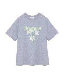 Mila Owen/FlowerモチーフプリントTシャツ/501893289