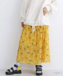 merlot/ペイズリーフラワー柄プリーツスカート/501893473