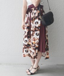 SHIPS WOMEN/ 【SHIPS for women】PS:FLOWER PT LAYERED SK         /501893747