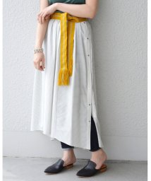SHIPS WOMEN/ 【SHIPS for women】PS:STRIPE SLK/CTN ASYMMETRY SK  /501893756