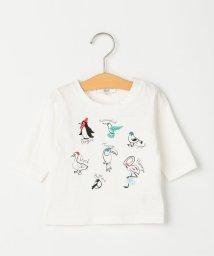 SHIPS KIDS/SHIPS KIDS:アニマル 刺繍 7分袖 TEE(80~90cm)/501895011