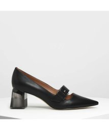CHARLES & KEITH/ルーサイトヒール メリージェーン / Lucite Heel Mary Janes (Black)/501895739