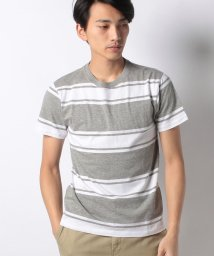 STYLEBLOCK/ランダムボーダー柄クルーネック半袖Tシャツ/501590673