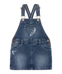 BENETTON (UNITED COLORS OF BENETTON GIRLS)/デニムハートポッケジャンパースカート/501623001