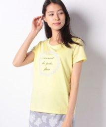 MADAM JOCONDE/【洗える】ストーン付きプリントTシャツ/501884258