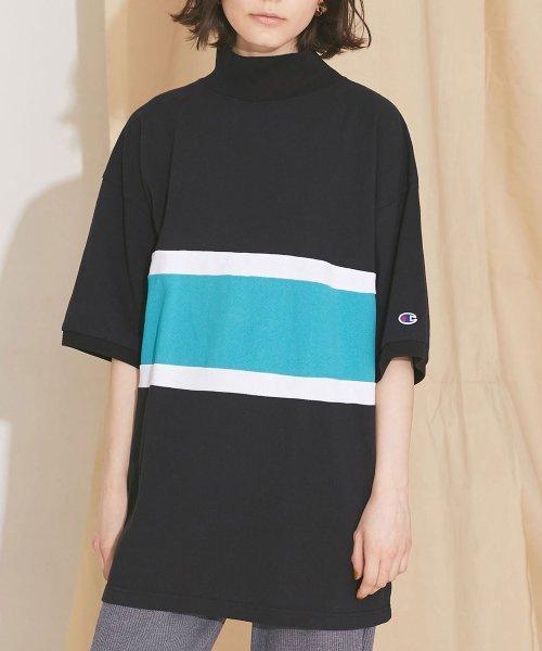 nano・universe(ナノ・ユニバース)/【MIHO NOJIRI × nano・universe】Champion/別注カノコカラーブロックTシャツ/6719124029