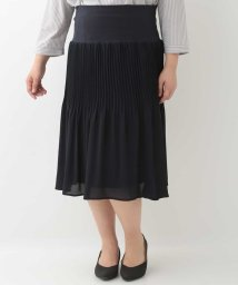eur3/【大きいサイズ】シフォンプリーツスカート/501896579