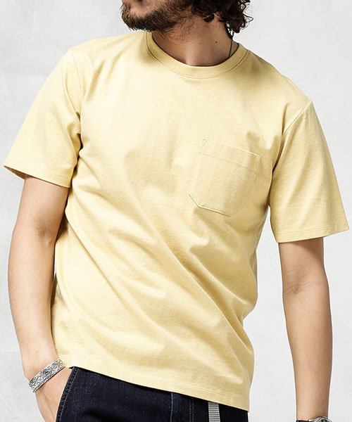 nano・universe(ナノ・ユニバース)/Anti Soaked ヘビークルーネックTシャツ/6689124007