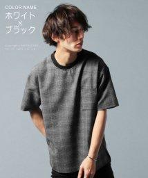 THE CASUAL/(スリック) SLICK 日本製EVALETシアサッカーグレンチェックプリント半袖ブルオーバー/501897980