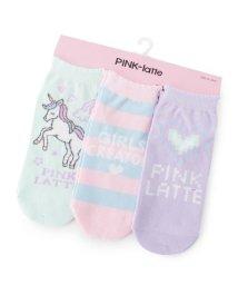 PINK-latte/パステルソックス3足セット/501899117