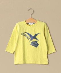 green label relaxing (Kids)/恐竜プリント 7スリーブTシャツ/501624925