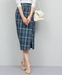 ROPE'/【洗える】チェックハイウエストタイトスカート/501900456