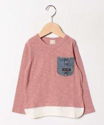 petit main/デニムポケット裾ワッフルT/501881245