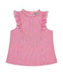 BENETTON (UNITED COLORS OF BENETTON GIRLS)/ストライプフリルノースリーブシャツ・ブラウス/501886700