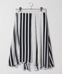 GUEST JOCONDE/【大きいサイズ】マルチストライププリント/フィッシュテールスカート/501888462
