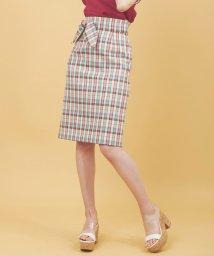 31 Sons de mode/【sweet5月号掲載】麻調合繊チェックタイトスカート/501898222