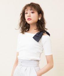 31 Sons de mode/【sweet5月号掲載】テレコアシメショルダーリボンTシャツ/501898229