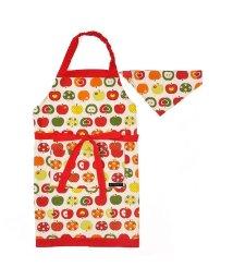 COLORFUL CANDY STYLE/子どもエプロン(130~160cm)ツートーンタイプ おしゃれリンゴのひみつ(アイボリー)/501901140