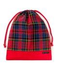 COLORFUL CANDY STYLE/巾着 大 体操服袋 タータンチェック・レッド × オックス・赤/501901187