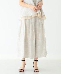 Demi-Luxe BEAMS/ELIN / リネンミックス ベルスカート/501902045