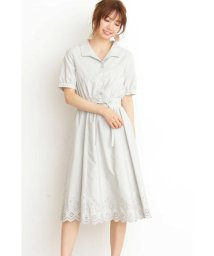 PROPORTION BODY DRESSING/フラワー刺しゅうシャツワンピース/501595258