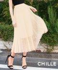 CHILLE/チュールプリーツスカート/501617105