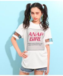 ANAP GiRL/チュール切替プリントトップス/501624592