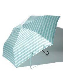 Afternoon Tea LIVING/ボーダー柄折りたたみ傘 雨傘/501681372