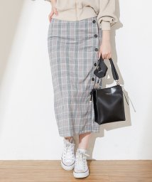 NICE CLAUP OUTLET/【natural couture】多釦ナロースカート/501884299
