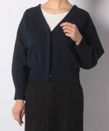 NICE CLAUP OUTLET/【natural couture】きれいめニットジャケットカーデ/501884302