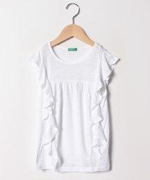 BENETTON (UNITED COLORS OF BENETTON GIRLS)/ラッフルフレンチ半袖Tシャツ・カットソー/501886702